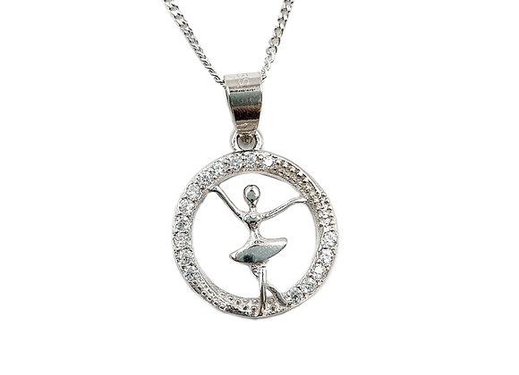 Ballerina, Silver Necklace, Ballerina necklace, Silver Ballerina Necklace, Sterling Silver Ballerina Necklace, necklace