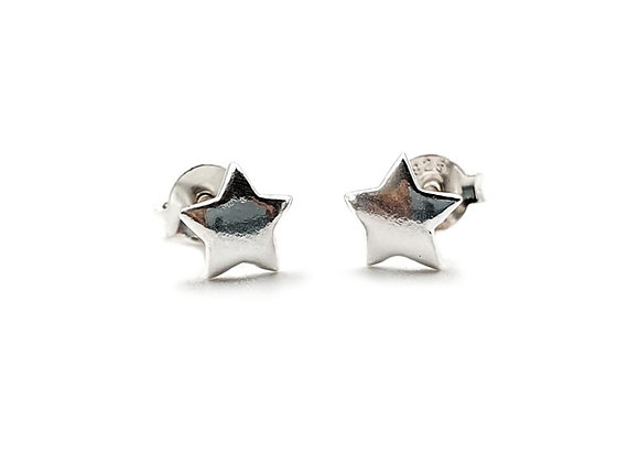 The Small Star 925 Sterling Silver Stud Earrings