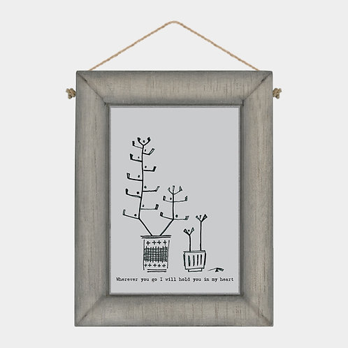 Wooden 'hold you in my heart' Forest Hanging Sign