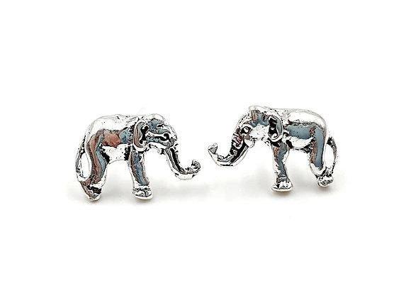 Silver, Elephant, Elephant Earrings, Silver Elephant Earrings, Silver Elephant Studs, Sterling Silver Elephant Earrings,