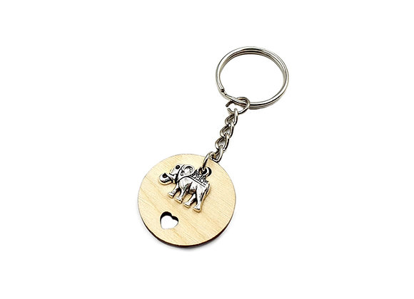 The African Elephant Key Ring