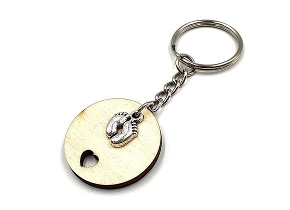 Key, Ring, Key ring, Keyring, Baby, baby feet Keyring, baby Key ring, Animal Key ring, Baby Feet Key rings, Wooden Keyring,