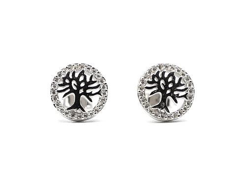 Tree Of Life, Tree Of Life Earrings, Silver Tree Of Life Earrings, Silver Tree Of Life Studs, Silver Tree Of Life Earrings,