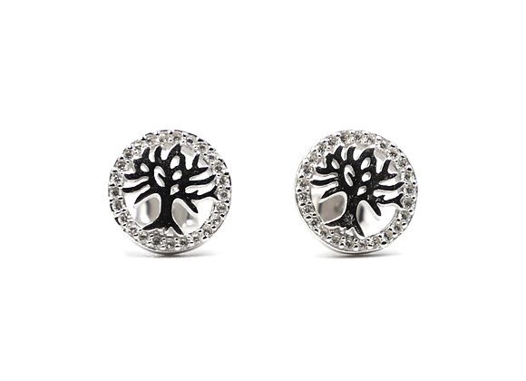 Tree Of Life, Tree Of Life Earrings, Silver Tree Of Life Earrings, Silver Tree Of Life Studs, Silver Tree Of Life Earrings,