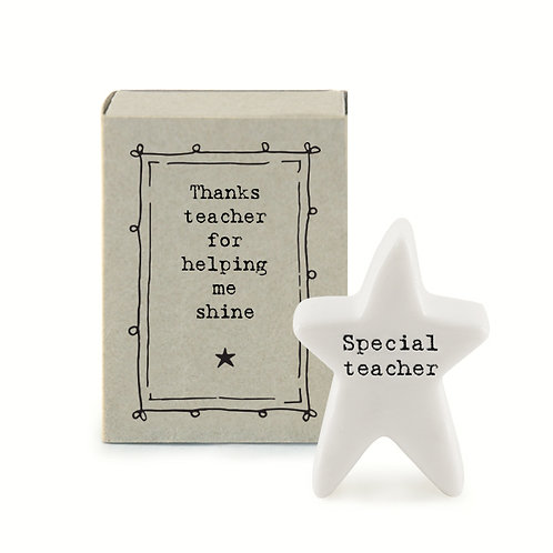 Little Matchbox Porcelain 'Special Teacher' Mini Star Figurine