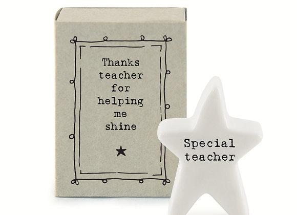 Little Matchbox Porcelain 'Special Teacher' Mini Star Figurine