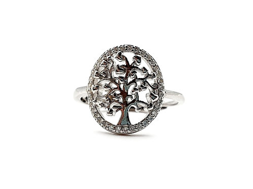 The Frosted Tree Of Life 925 Sterling Silver Ring