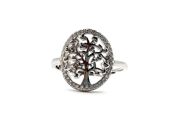 The FrostedTree Of Life 925 Sterling Silver Ring