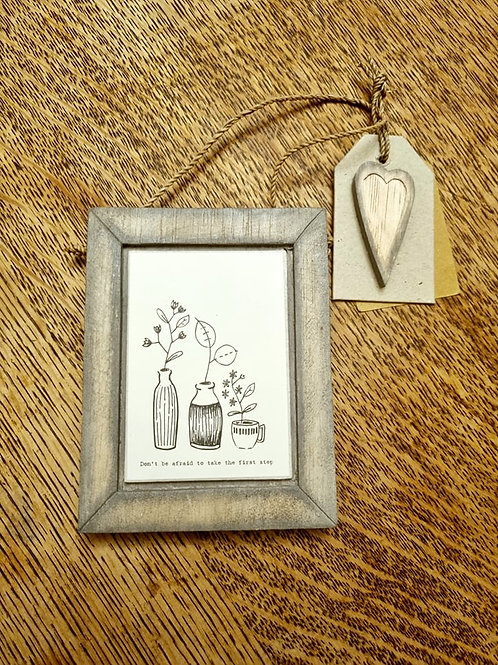 Wooden 'take the first step' Forest Hanging Sign