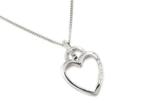 Silver Necklace, Heart, Heart necklace, Silver Heart Necklace, Sterling Silver Heart necklace, Sterling Silver,