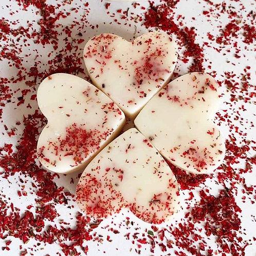 4 x Pomegranate Noir Soy Wax Melt Hearts