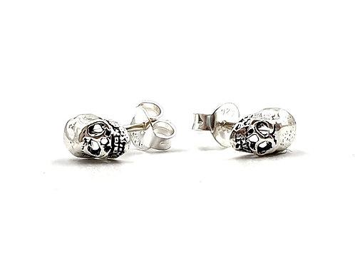 The Tiny Skull Stud Earrings 925 Sterling Silver