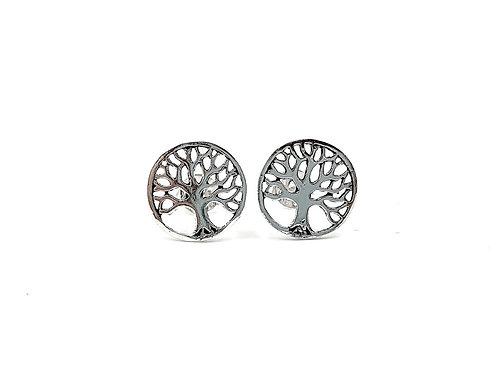 Tree Of Life, Tree Of Life Earrings, Silver Tree Earrings, Silver Tree Studs, Sterling Silver Tree of Life Stud Earrings,