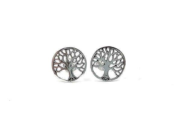 Tree Of Life, Tree Of Life Earrings, Silver Tree Earrings, Silver Tree Studs, Sterling Silver Tree of Life Stud Earrings,