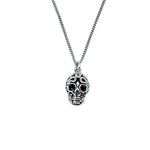 The Filigree Skull 925 Sterling Silver Necklace