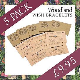 smaller woodland wish bracelet 5 pack sp