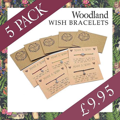 WOODLAND WISH BRACELETS - 5 PACK (LIMITED EDITION)
