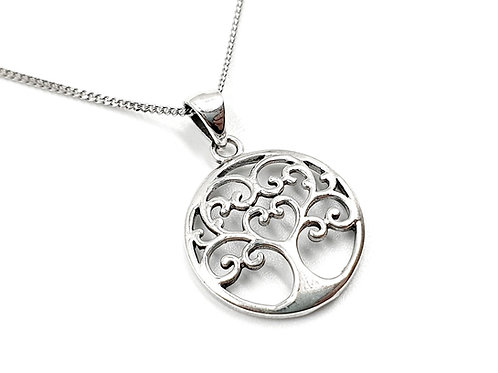 Tree of life, Ornate, Ornate necklace, Silver Ornate Necklace, Sterling Silver tree of life necklace, Ornate Tree of Life,