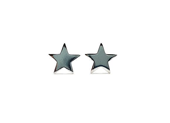 The Medium Star 925 Sterling Silver Stud Earrings