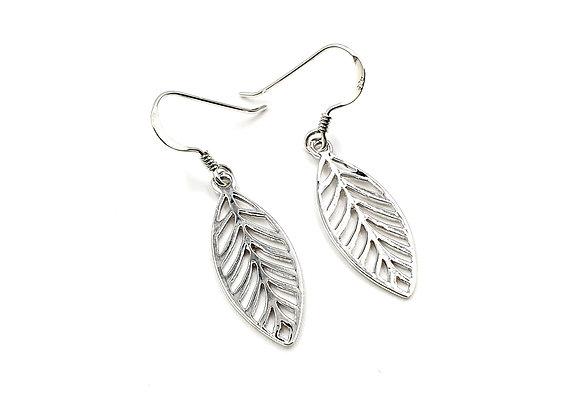 Leaf, Drop, Earrings, Leaf Drop Earrings, Silver Leaf Drop Earrings, Sterling Silver Leaf Drop Earrings, Leaf Earrings,