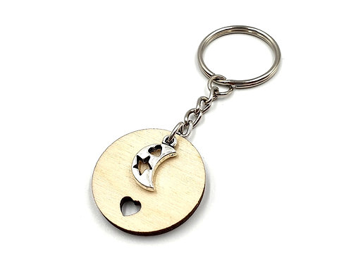 The Crescent Moon Key Ring