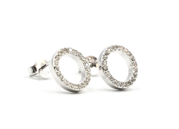 Circle Of Life, Circle Of life Earrings, Silver Circle of Life Earrings, Silver Circle Studs, Sterling Silver Earrings,