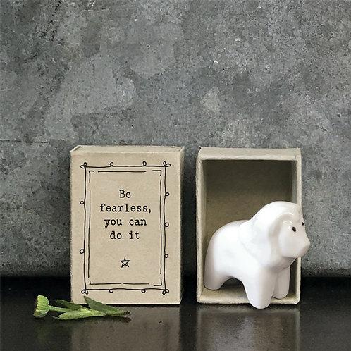 Little Matchbox Porcelain Fearless Lion Mini Figurine