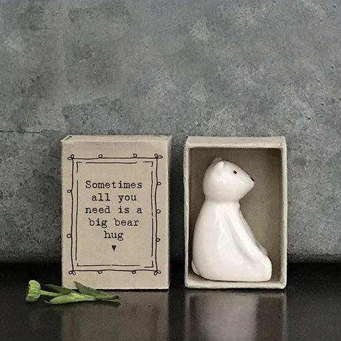 Little Matchbox Porcelain 'Bear Hug' Mini Bear Figurine