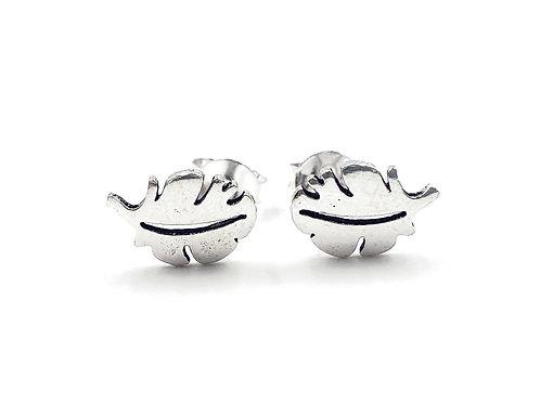 The Woodland Leaf 925 Sterling Silver Stud Earrings