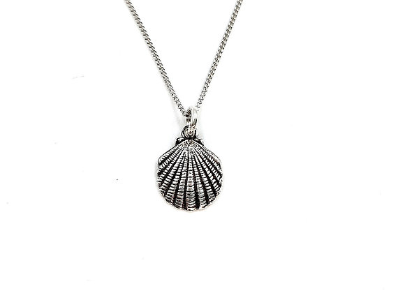 Silver Necklace, Shell, Shell necklace, Silver Shell Necklace, Sterling Silver Shell necklace, Mermaid, Mermaid necklace,