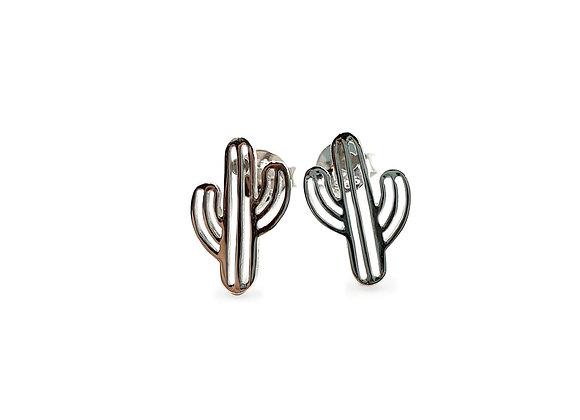The Little Cactus 925 Sterling Silver Stud Earrings