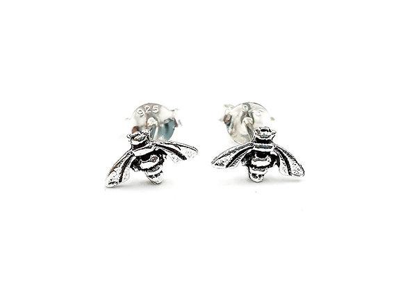 Sterling Silver Earrings, Bee, Bee Earrings, Silver Bee Earrings, Silver Bee Studs, Sterling Silver Bee Earrings, Bee Studs,