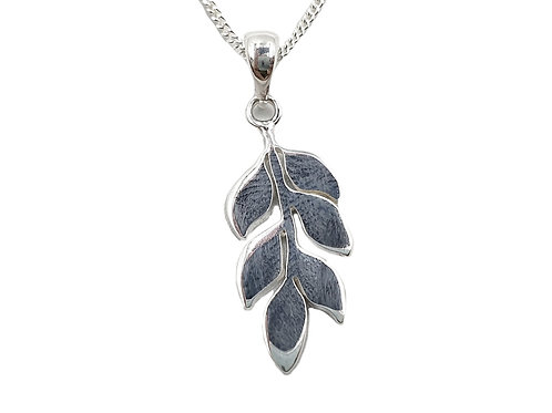 Sterling Silver Necklace, Leaf, necklace, Branch, Branch Leaf necklace, Silver Leaf Necklace, Sterling Silver Leaf necklace,