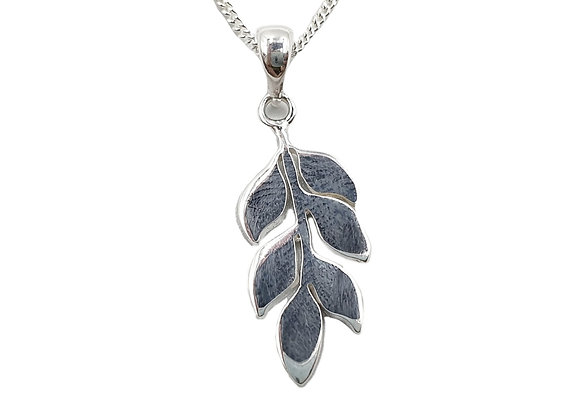 Sterling Silver Necklace, Leaf, necklace, Branch, Branch Leaf necklace, Silver Leaf Necklace, Sterling Silver Leaf necklace,