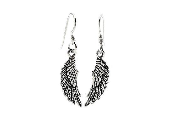 The Falling Angel Wing 925 Sterling Silver Drop Earrings