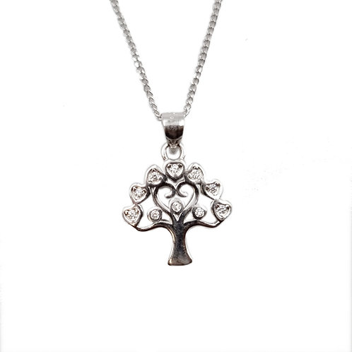 The Heart Tree CZ 925 Sterling Silver Necklace