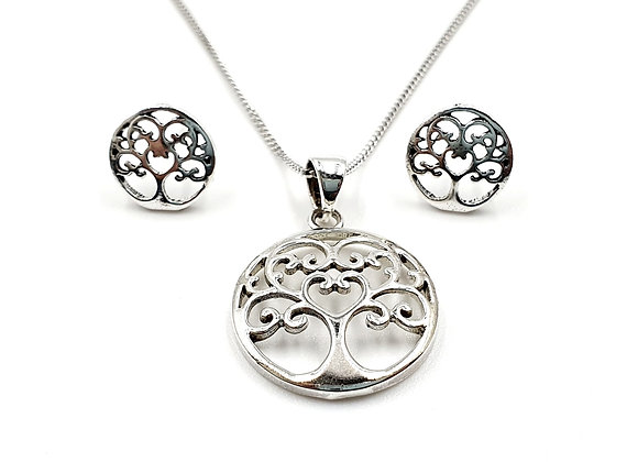 The Ornate Family Tree Gift Set 925 Sterling Silver