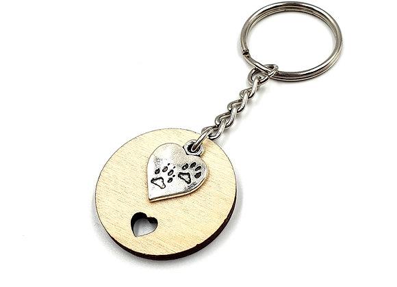 Key, Ring, Key ring, Keyring, Paw, Paw Keyring, Dog Keyring, Animal Key ring, Paw heart Keyring, heart, heart keyring,