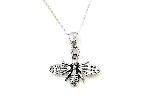 Silver Necklace, Bee, Bee necklace, Silver Bee Necklace, Sterling Silver Bee necklace, bee silver necklace, silver bee,