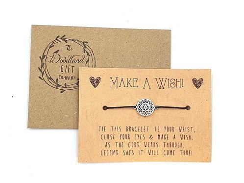 Wish Bracelets, Wish bracelet, Make a Wish bracelets, bracelet, Wedding bracelet, charity, wish, party, Mandala, Birthday,