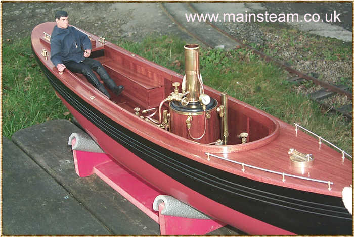 Cheddar Models powered Steam Boat
