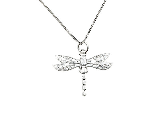 The Filigree Dragonfly 925 Sterling Silver Necklace