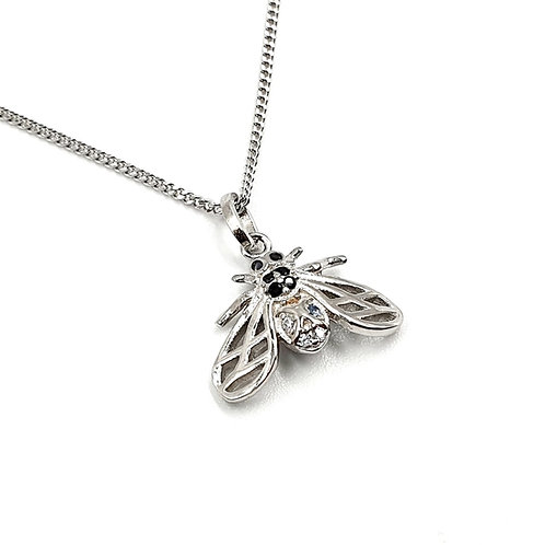The Frosted Bee 925 Sterling Silver Necklace