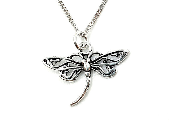 Silver Necklace, Dragonfly, Dragonfly necklace, Silver Dragonfly Necklace, Sterling Silver Dragonfly,  Silver Dragonfly,
