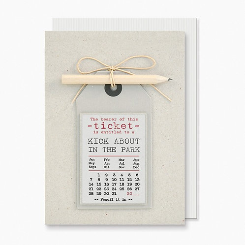 Pencil it in 'Kick About' Greeting Card A6