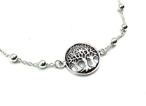 Tree, of, life, Bracelet, Tree of Life Bracelet, Silver Tree Bracelet, Sterling Silver Tree Of Life Bracelet, silver,