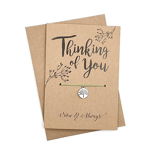 Thinking Of You Wish Bracelet Greeting Card A6