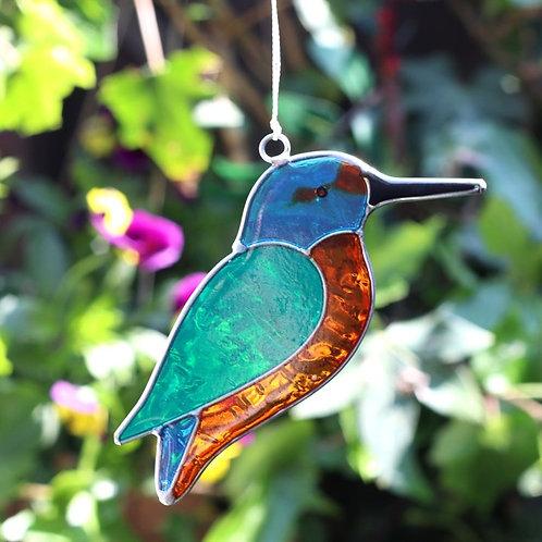 Kingfisher Bird Hanging Suncatcher