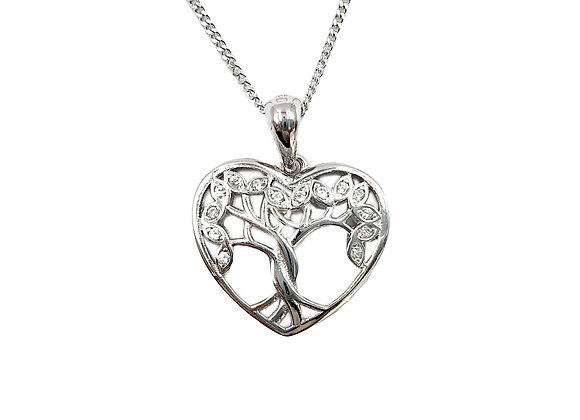 Silver Necklace, Tree, of, life, Tree of life necklace, Silver tree of life Necklace, Sterling Silver tree of life necklace,