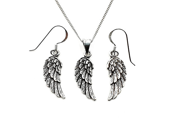 The Guardian Angel Wing Gift Set 925 Sterling Silver